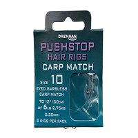 Drennan Pushstop Hair Rigs Carp Match Size 10