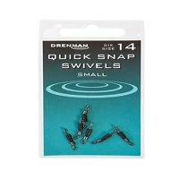 Drennan Quick Snap Swivels - Size 14