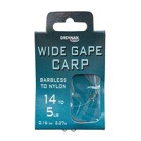 Drennan Wide Gape Carp Hooks to Nylon Size 14