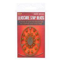 ESP Leadcore Stop Beads Camo Brown