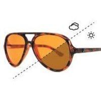 Fortis Aviator Switch Sunglasses with Polarised Amber Brown Lens