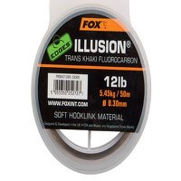 Fox 0.35mm Illusion Trans Khaki Soft Hooklink (CAC606)