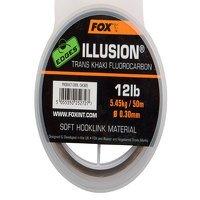 Fox 0.35mm Illusion Trans Khaki Soft Hooklink (CAC606)