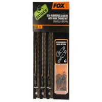 Fox Brown Submerge Leaders with K/C Kit (CAC581)