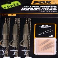 Fox Camo Leadcore Power Grip Lead Clip 50lb Kwik Change Leaders