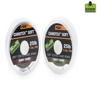 Fox Camotex 25lb Dark Camo Soft Coated Braid (CAC448)