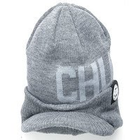 Fox Chunk Grey Peaked Beanie (CPR766)