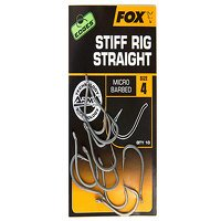 Fox Edges Size 4 Barbed Stiff Rig Straight Hook (CHK160)