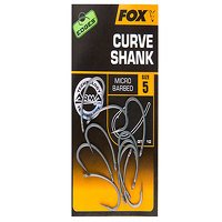 Fox Edges Size 8 Barbed Curve Shank Hook...