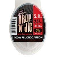 Fox Rage Drop & Jig Fluorocarbon 50m 0.18mm 2.57kg/ 5.67lb