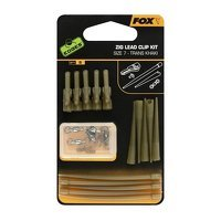 Fox Zig Lead Clip Kit Size 7 Trans Khaki X 5