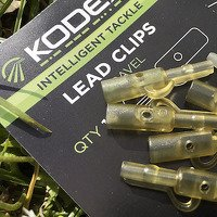 Kodex Lead Clips - Mud Brown 10pc