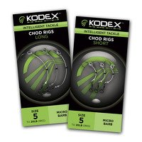 Kodex Short Chod Rigs - Microbarb Size 5 to 20lb - 3pc (811)