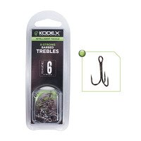 Kodex X-Strong Barbed Treble Hooks Size 4 10pc