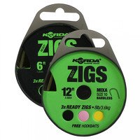 Korda 10ft Size 10 Barbed Ready Zig Rigs