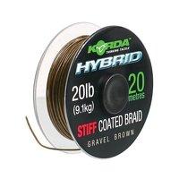 Korda Hybrid Stiff Line Gravel Brown 20lb - 20m