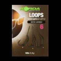 Korda Loop Rigs Size 6 Barbed DF Wide Gape - 18lb