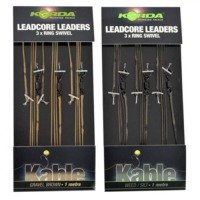 Korda Ring Swivel Leadcore Leader Weed - 1m