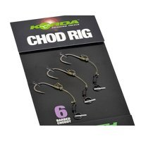 Korda Size 6 Short Barbless Chod Rig - 20lb