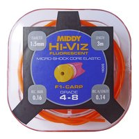 Middy Hi-Viz Shockcore Hollow Elastic Grade 4-8 - Orange (1600)