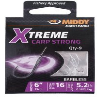 Middy Xtreme Carp Strong 93-13 Barbless Hooks-To-Nylon 14s to 6.1lb