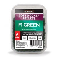 Sonubaits Soft Hooker Pellets 6mm - F1 Green