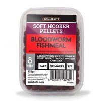 Sonubaits Soft Hooker Pellets 8mm - Bloodworm Fishmeal