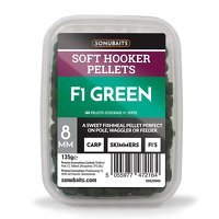 Sonubaits Soft Hooker Pellets 8mm - F1 Green