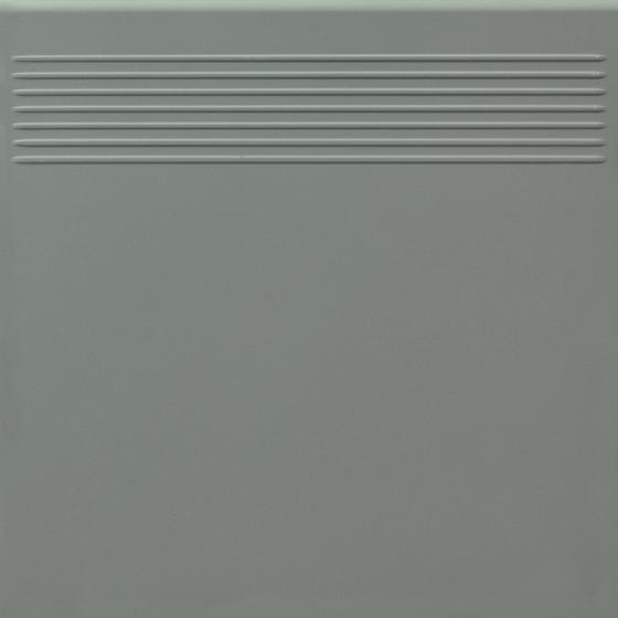 Bazo Grys Stopnica Prosta Monokolor Mat 30x30