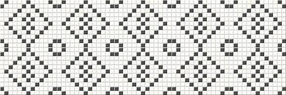 Blackwhite Mosaic 25x75