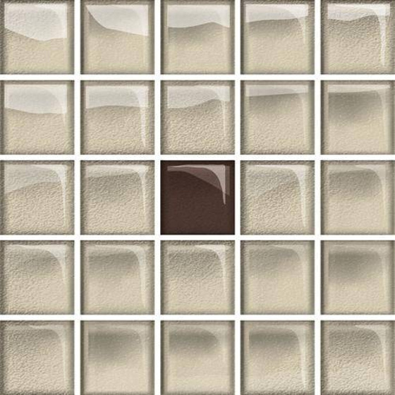 Glass Beige Brown Mosaic New A 14,8x14,8