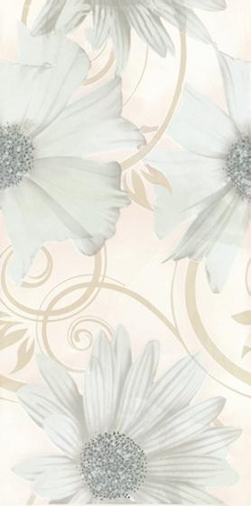Sabro Bianco Inserto Kwiat 29,5x59,5