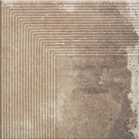 Scandiano Ochra Stopnica Narożna 30x30