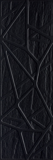 Titanium Nero Kratka Struktura 25x75