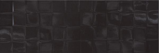 Black Glossy Structure Cubes 19,8x59,8