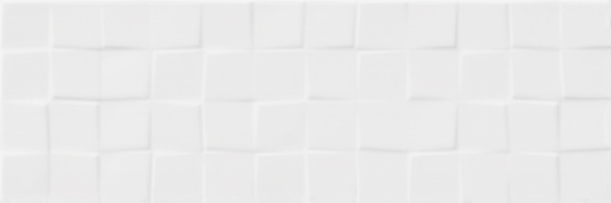 White Glossy Structure Cubes 19,8x59,8