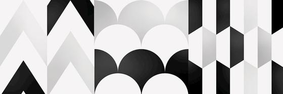 Centro Black- White Geo 1 20x60