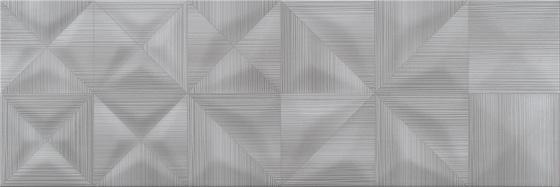 Delicate Lines Graphite Glossy Structure 25x75