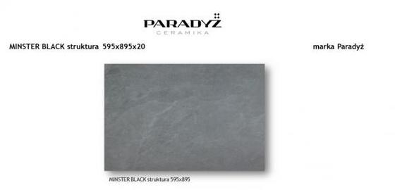 Płyta Tarasowa Minster Black Struktura 20 mm Mat 59,5x89,5
