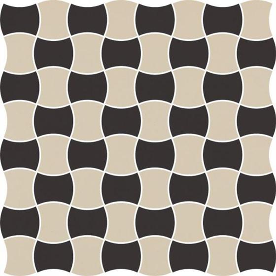 Modernizm Nero Mozaika Prasowana Mix C K 3,6x4,4 30,8x30,8