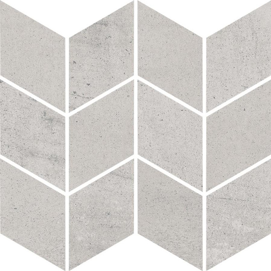 Space Grys Mozaika Cięta Romb Braid Mat 20,5x23,8