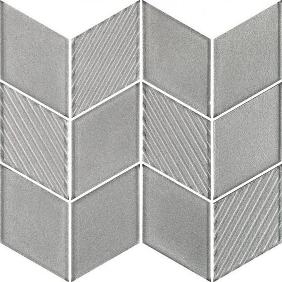 Uniwersalna Mozaika Szklana Silver Romb 20,5x23,8
