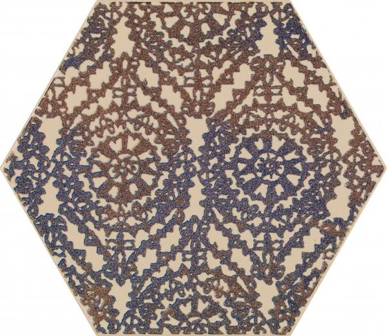Glitter Mood Blue Heksagon Inserto A 19,8x17,1