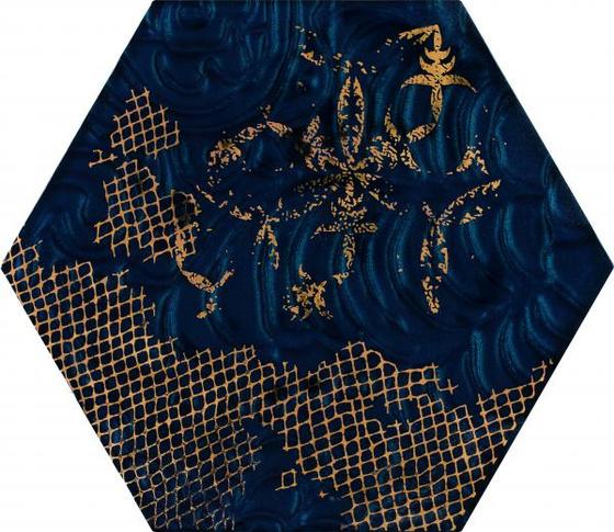 Intense Tone Blue Inserto Szklane Heksagon A 19,8x17,1