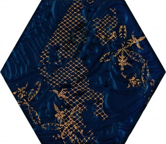 Intense Tone Blue Inserto Szklane Heksagon C 19,8x17,1
