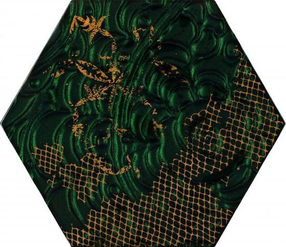 Intense Tone Green Inserto Szklane Heksagon A 19,8x17,1
