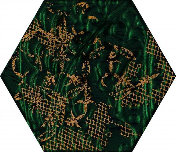 Intense Tone Green Inserto Szklane Heksagon B 19,8x17,1