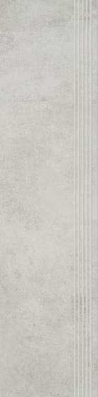 Scratch Bianco Stopnica Prosta Nacinana Półpoler 29,8x119,8