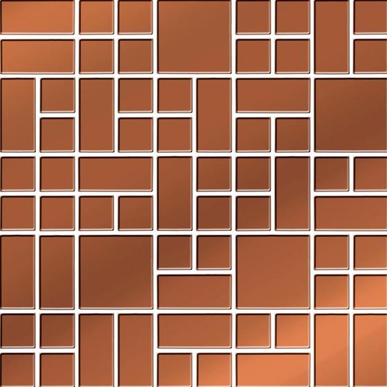 Mozaika Copper Glass 25x25