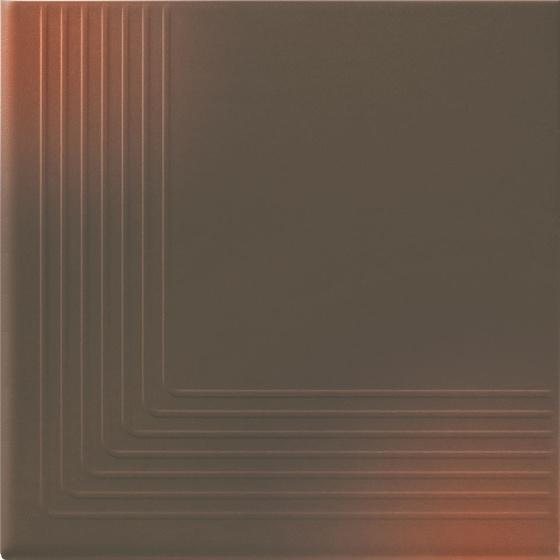 Klinkier Shadow Brown Stopnica Narożna 30x30